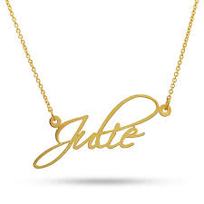 name gold necklace fancy script gold custom name necklace fancy chains and gold