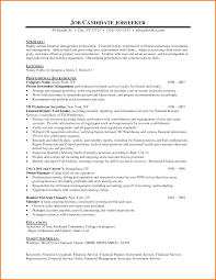 Resume Sample Finance by 9 Financial Resume Sample Financial Statement Form
