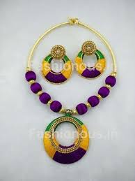 jewelry making necklace images Customized silk thread jewellery fashionous jpg