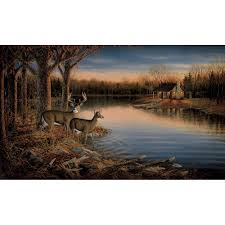 york wallcoverings 10 5 ft x 6 ft deer chair rail wall mural deer chair rail wall mural
