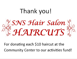 thank you shelly harrison and sns hair salon for donating the