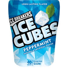 Wrapped Sugar Cubes Ice Breakers Ice Cubes Peppermint Gum