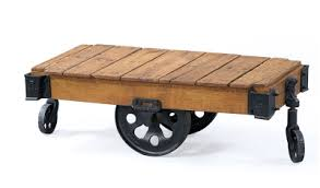 Industrial Cart Coffee Table Restoration Hardware Furniture Factory Cart Copycatchic