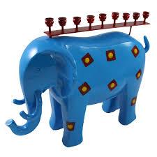 elephant menorah colorful elephant menorah candlestock