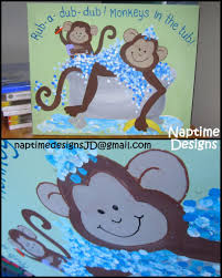 Painting For Bathroom Monkey Painting For Bathroom Bubbles And Suds Glitter Details
