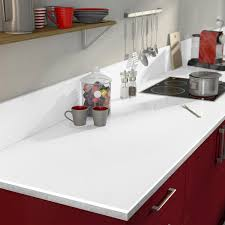 cuisine blanc brillant plan de travail stratifié blanc brillant brillant l 315 x p 65 cm