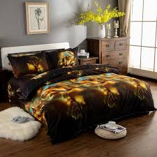Wolf Bedding Set Fashion Animal 3d Wolf Bedding Sets King Size 4pcs