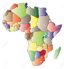 Africa Continent Map by Detail Color Map Of African Continent With Borders Each State