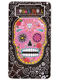 sugar skull colored pencil set in tin by npw gifts work
