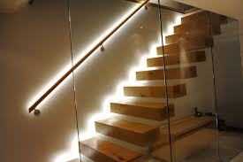tamsquite floating staircase led reflective light dma homes 29085