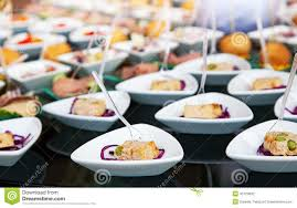 food for cocktail on wedding party stock photo image 45120832
