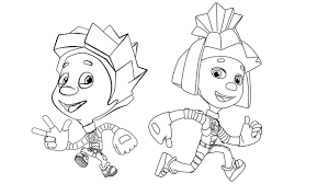 fixiki coloring pages for kids coloring pages for kids