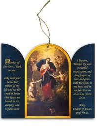 catholic store online undoer of knots detail wood ornament catholic store wood