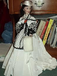 Gone With The Wind Curtain Dress Franklin Mint Scarlett Wedding Gown Doll Honeymoon Dress Jpg
