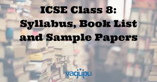 icse class 8 syllabus and text book list download pdf