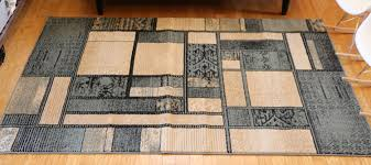 Modern Square Rug New City Contemporary Blue And Beige Modern Square