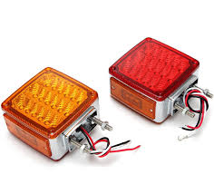 amazon com red amber 39 leds stop turn tail lamp fender marker