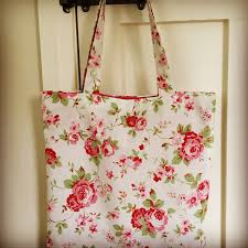 cath kidston floral fabric bag rose print fabric market bag