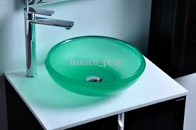 cupc certificate resin round counter top sink colored cloakroom