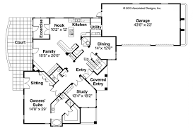 Spanish Floor Plans Mediterranean House Plans Weber Design Group Inc Stock Classic