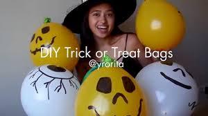 diy halloween trick or treat bags youtube