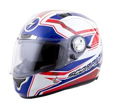 scorpion motocross helmets scorpion exo 1100 jag red white blue