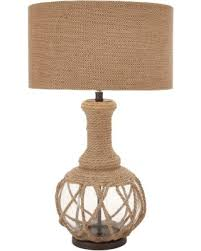 Rope Table L Spectacular Deal On Benzara The Ingenious Glass Jute Rope Table L