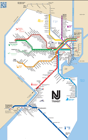 Commuter Rail by Map Of Nyc Commuter Rail Stations Lines With New Jersey Transit