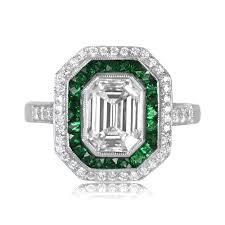 engagement rings emerald cut 1 72 carat emerald cut diamond ring estate diamond jewelry