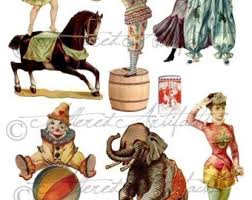 circus puppets printable vintage circus wagon theater printable circus puppet