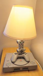 playstation 1 console and controller desk lamp you light up my