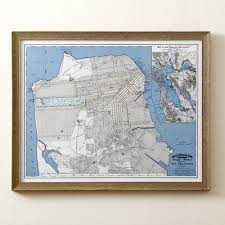 san francisco map framed birch san francisco map framed print reviews wayfair