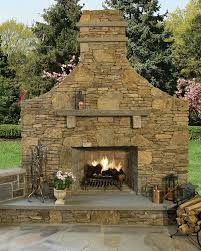 Outdoor Fire Place by New England Thinstone Outdoor Fireplace