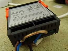 lcd digital temprature thermostat controller wiring youtube