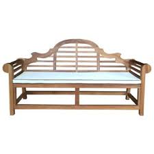 Wooden Bench With Cushion Teak Benches You U0027ll Love Wayfair