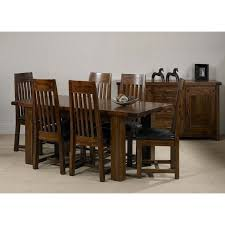 Large Extending Dining Table Rustic Acacia Wood Large Extending Dining Table Oak Furniture Uk