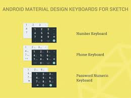 keyboards for android android material design numeric keyboards sketch freebie
