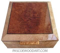 handcrafted wood keepsake box maple burl redwood burl