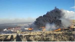 firefighters battle thanksgiving day near malta kpax