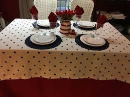 red white polka dot table covers kate spade 60 x 118 cotton charlotte street white navy dot