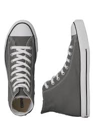 converse chuck taylor all star hi charcoal shoes impericon