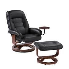 furniture alluring leather chair and ottoman for cozy home