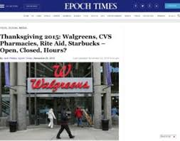 walgreens rite aid cvs thanksgiving 2015 walgreens cvs