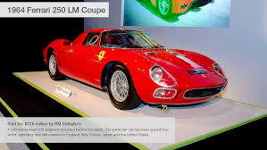most expensive sold at auction 1964 25 lm coupe 10 most expensive cars sold at pebble