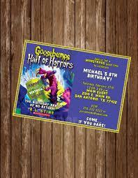 printable goosebumps bookmarks goosebumps personalized invitation digital or printed w