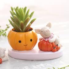 mini cute succulent plants pot animals resin flowerpots planters