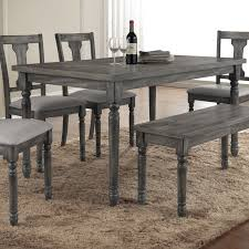 Rustic Dining Room Table With Bench Gray Dining Table Aswadventure