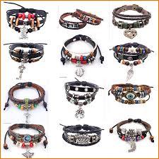mens bracelet styles images 43 styles retro rope leather women mens bracelets hand woven jpg