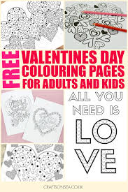 free printable valentine u0027s coloring pages adults kids