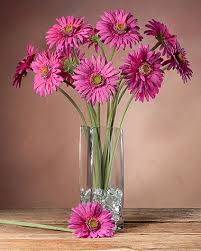 faux flowers gerbera silk flower stems for arranging at petals